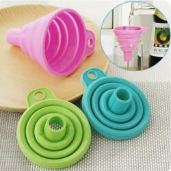 1pcs Mini Foldable Funnel Silicone Collapsible Funnel Folding Kitchen Funnels $1.99
