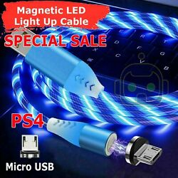 Magnetic LED LIght PlayStation 4 Controller USB Charging Charge Cable PS4 Xbox $5.95