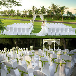 100pcs White Wedding Chair Cover Universal Stretch Polyester Spandex Chair Cover $179.93