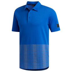 Adidas Golf Men#x27;s Adicross Novelty Print Polo NEW $21.39