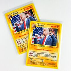 Donald Trump Pokemon Card Novelty Card Handmade Gift $8.50