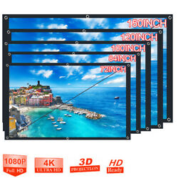 Portable Foldable Projector Screen 16:9 HD Outdoor Home Cinema Theater 3D Movie $24.18
