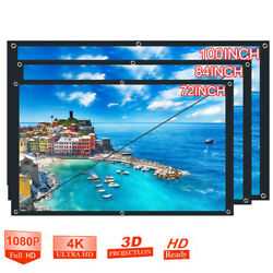 Portable Foldable Projector Screen 16:9 HD Outdoor Home Cinema Theater 3D Movie $9.69