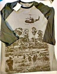 Vintage Vietnam War Veterans T Shirt Large Helicopter Soldiers Scenery NWT $19.00