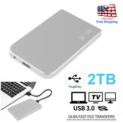 Portable USB 3.0 2TB 2.5quot; External Hard Drive Disk Ultra Slim For PC Laptop US $37.99