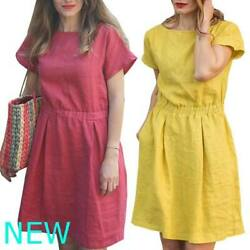 Maxi Casual Party Womens Boho Dresses Cocktail Sundress Evening Short Sleeve $18.55