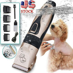 US Dog Cat Pet Grooming Kit Rechargeable Cordless Electric Hair Clipper Trimmer $9.29
