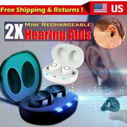 USA Invisible Mini In Ear Digital Hearing Aid Sound Voice Amplifier Enhancer Ear $39.99