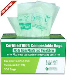 Compostable Bags Astm D6400 By Premium Food Waste Bags 100% Cified Compost B $49.28