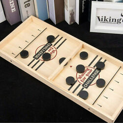 Fast Sling Puck Table Game Wooden Board Hockey Game Party for Children Toys Gift $19.69