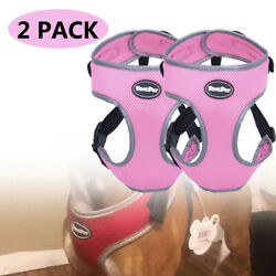 2 Pack Dog Harness Mesh Padded Puppy Pet Harness Vest Breathable Pink Reflective $10.59