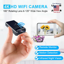 Mini IP Wireless Wifi Home Security Small Camera HD 4K DVR Night Vision Hidden $43.70