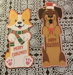 Brand New Holiday Dog Bookmarks Corgi Cute Brown Dog For Dog Rescue Charity $2.99