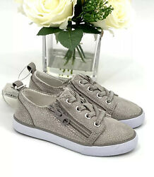 NEW Girl's Sneakers Size 12 Tennis Shoes Gray Sparkle Cat amp; Jack Dayja $17.95