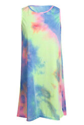 Sun Women Summer Short Dress Holiday Beach Casual Loose Rainbow Sundress $22.00