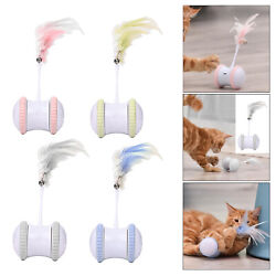 Smart Cat Toy Self Rotating Tumbler Teaser Kitten Funny Hand free Auto Swing Toy $23.95