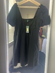 Wild Fable Black Dress With Cap Sleeves NWT M $13.99