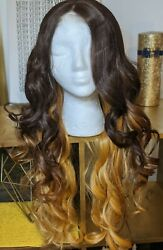 Deep Part Long Lace Front two tone wig $25.50