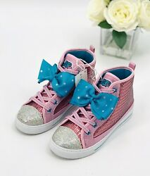 Nickelodeon Kids Jojo Siwa High Top Sneakers Girl's Size 3 Shoe Pink Sequin NEW $23.70