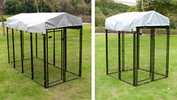 Dog Playpen House Heavy Duty Large Outdoor Dog Kennel Galvanized Steel Fence $159.99