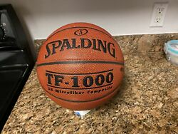 Original Spalding TF 1000 Game Ball Leather Basketball Men#x27;s 29.5 NEW $299.00