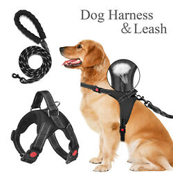 No Pull Dog Pet Harness Adjustable Control Vest Puppy Reflective Dog Rope Leash $10.99