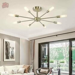 Modern Sputnik Chandelier Frosted Glass Indoor Pendant Lighting Ceiling Fixtures $73.59