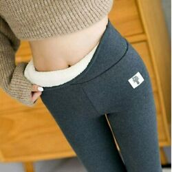 Womens Fleece Lined Leggings Winter Warm High Waist Thermal Thick Pants Trousers $13.98