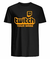 Twitch Tv Gaming Funny Mens Personalized T Shirt YouTuber Slogan Tee Top Gift $19.99