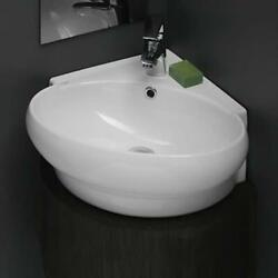 Nameeks 002000 U CeraStyle 20quot; Ceramic Wall Mounted Bathroom Sink White $207.99
