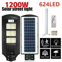 1200W 624 LED Solar Street Light Commercial Outdoor IP67 Area Security Road Lamp