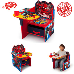 Spider Man Table Desk And Chair with Storage Bin Box Set For Boys 3 6 Year $54.99