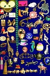 Vintage Modern Eclectic Brooch Pin Jewelry Lot Betsy Johnson House of Blues Copa $58.00