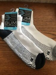 BUM Equipment men#x27;s size 6 12 socks low cut cushion sole arched support TWO PAIR $5.98