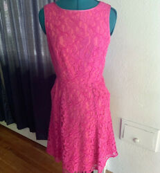 Adrianna Papell Lace Dress PINK Size 4 Cocktail Party $19.99