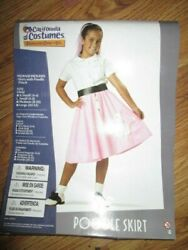 Girls POODLE SKIRT 50#x27;S SOCK HOP HALLOWEEN COSTUME S Sm 6 8 NEW $13.99
