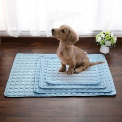 Pet Dog Cooling Mat Cat Chilly Non Toxic Cool Pad Cushions Indoor Sleeping Bed $11.67