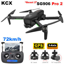 SG906 PRO2 Drone Camera 4K hd 3 Axis 5G WiFi FPV Brushless RC quadcopter drone $228.33
