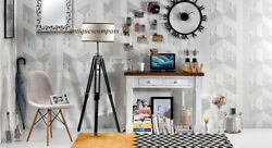 Floor SHADE LAMP Black Tripod Nautical Handmade Vintage Designer Home Decor $100.00