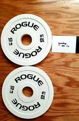 ROGUE Fitness 10LB olympic Change Plate PAIR 20LB Total 💯SHIPS FREE TODAY💯 $198.88