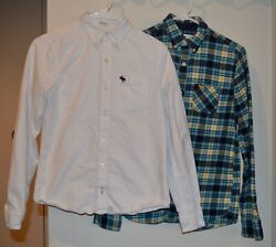 Lot of 3 Abercrombie Kids Boys Dress Shirts Size XL 16 Exc. Cond. $20.00
