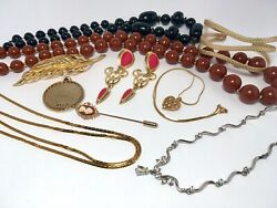 Vintage To New Estate Jewelry Lot Avon D'Orlan Lia Sophia All Wearable C $60.00
