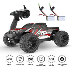 9300E RC Car High Speed Car 1:18 Scale 30 MPH 4WD Off Road Trucks 2 Battery New $67.99