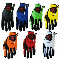 Zero Friction Compression Fit Performance Golf Gloves One Size ZF Universal $12.99