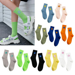 Womens Flower Crew Socks Warm Elastic Cool Novelty High Dress Socks Hosiery $7.25