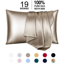 100% Pure Mulberry Silk Pillowcase 19 Momme Bed Pillow Cases for Hair and Skin $21.99