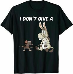 Pun Shirts I Dont Give A Rats Ass Vintage Gift For Men Women Funny Black Tee $18.99
