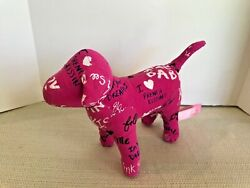 Victorias Secret 7quot; Plush Dog Pink Confetti I Love French Kissing $8.75