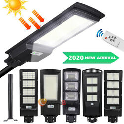 9990000LM Commercial Solar Street Light LED Dust to Dawm Sensor LampRemotePole