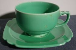 VINTAGE LIGHT GREEN HOMER LAUGHLIN RIVIERA CUP amp; SAUCER # 1 $17.00